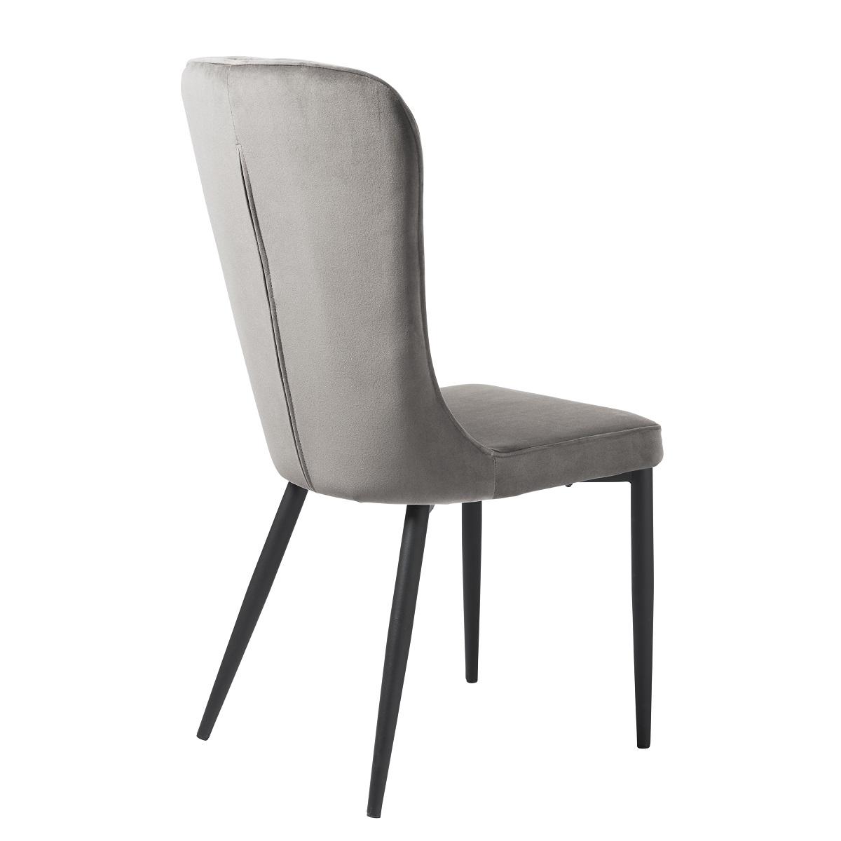 Effie Grey Velvet Dining Chair