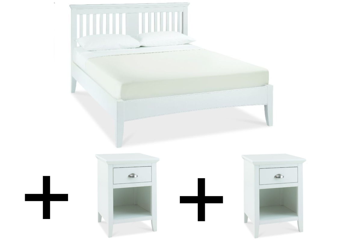 Saoirse Bedframe + 2x Drawer Nightstands - Bundle Deal