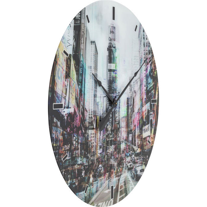 Times Square Glass Wall Clock