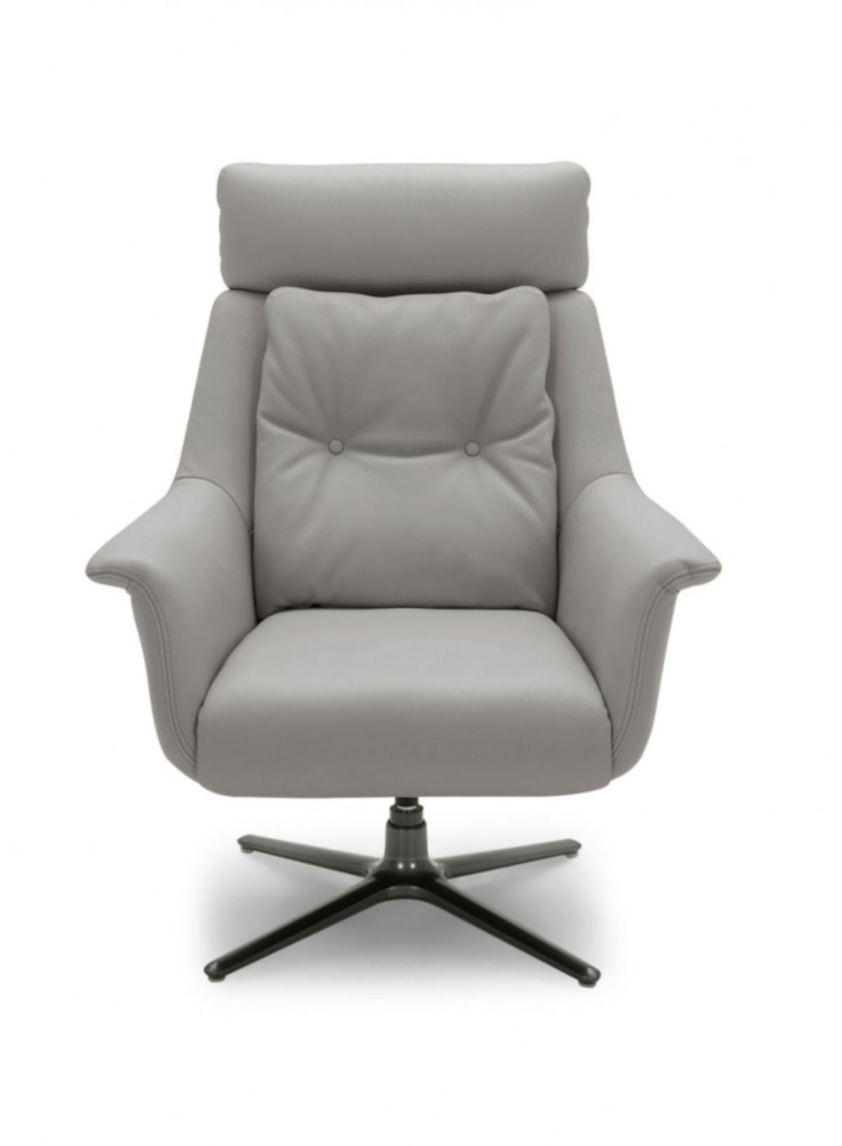 Nadia Swivel Chair  - Dark Grey