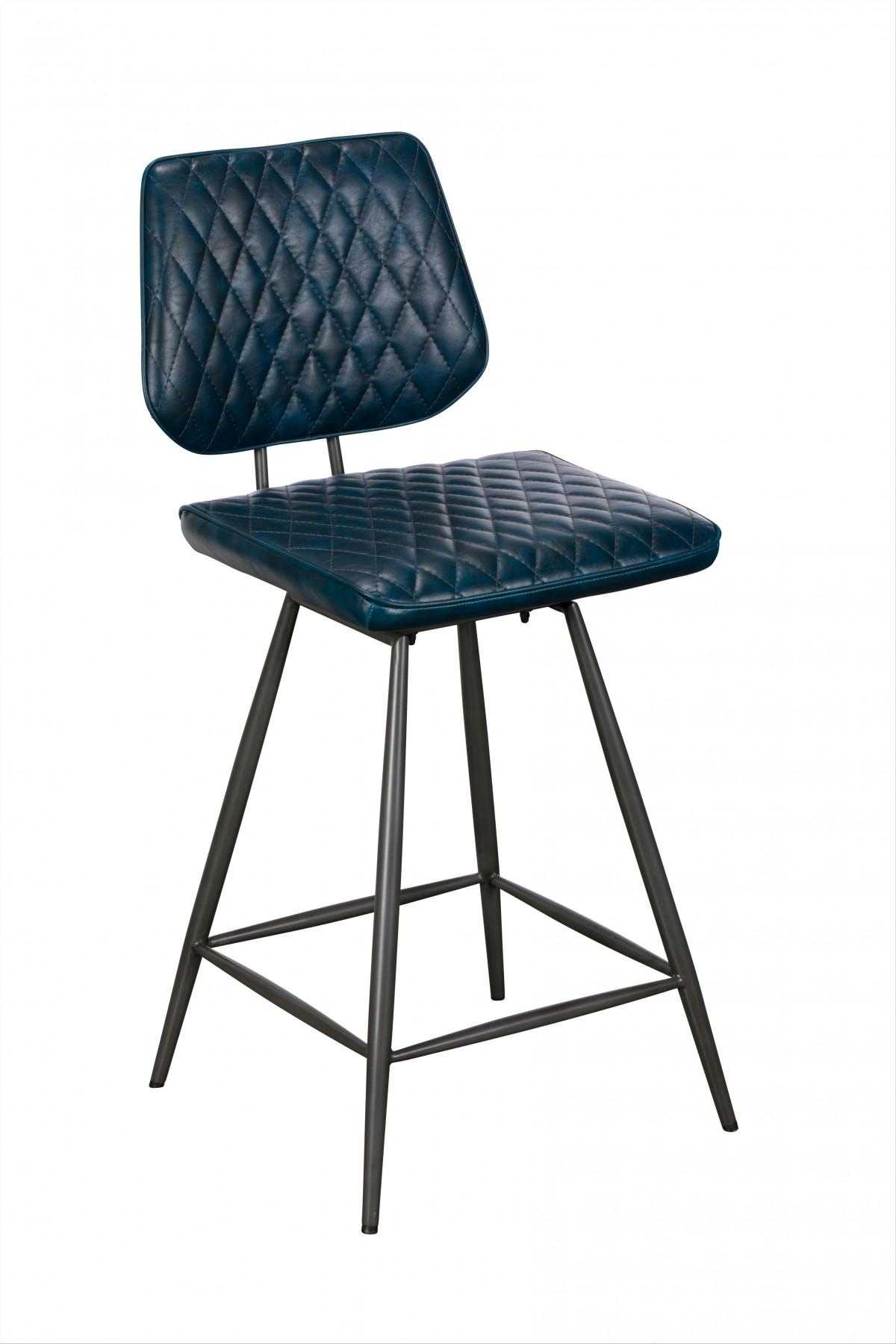 Ford Bar Table & 4 Blue Dalton Bar stools - Bundle Deal