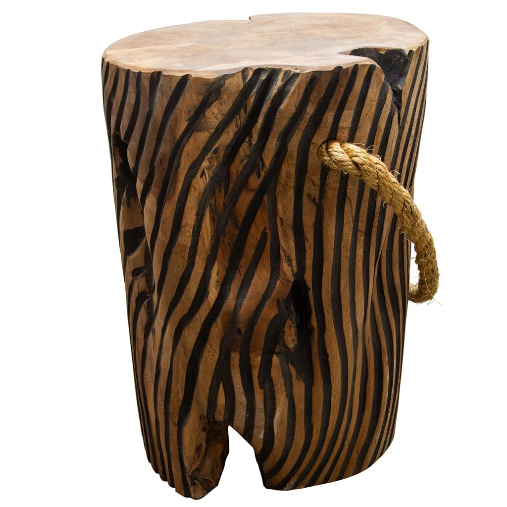Teak Striped Root Stool