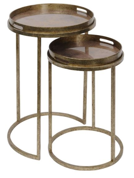 Vienna Antique Gold Atlas Side Table Set