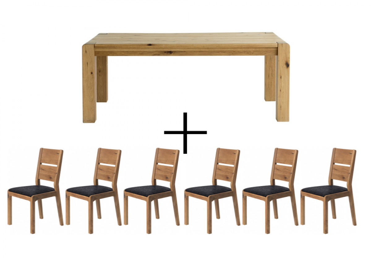 Sicily Dining Table and 6 Chairs - Dining Bundle