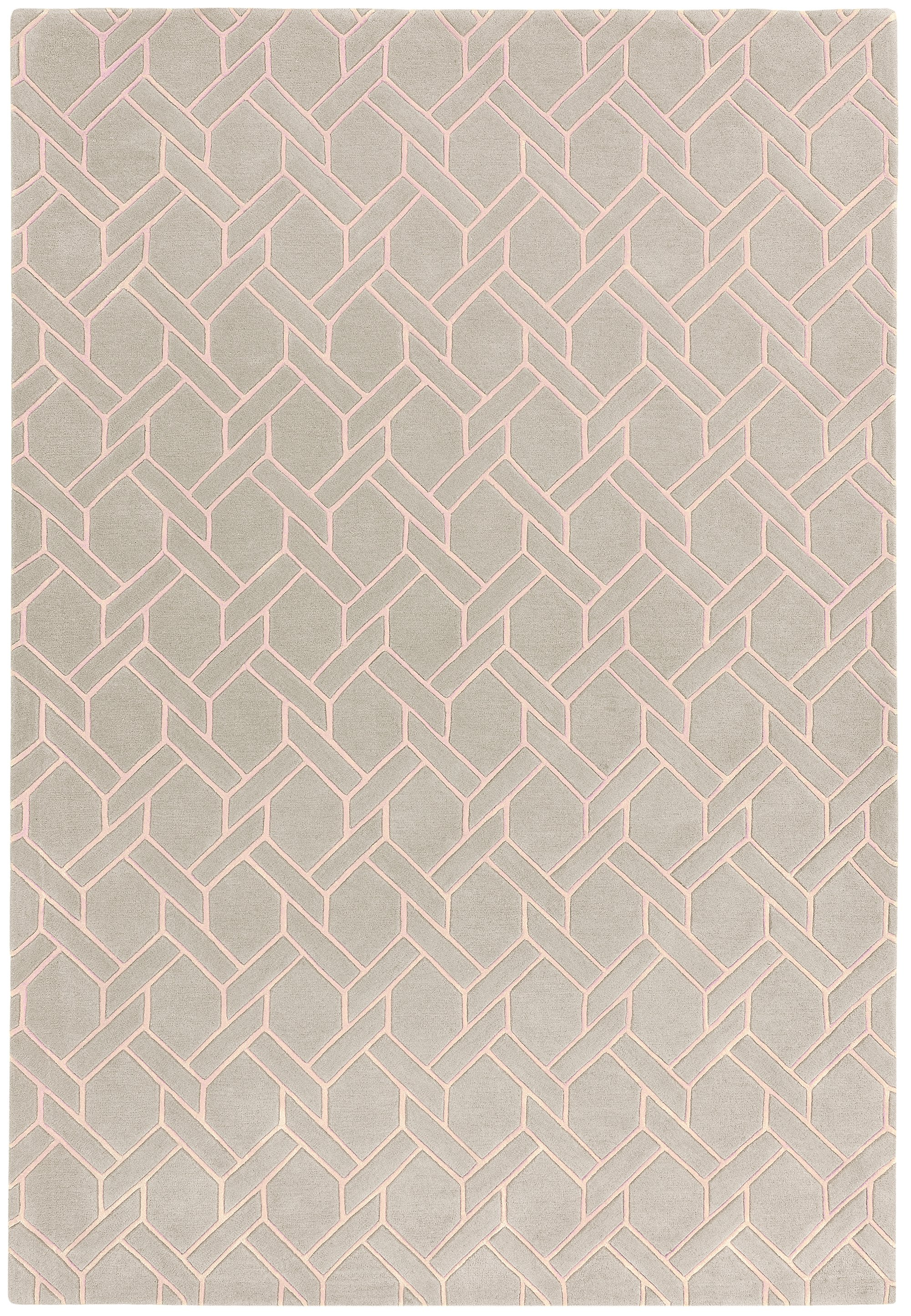 Nexus Rug Fine Lines Silver/Pink