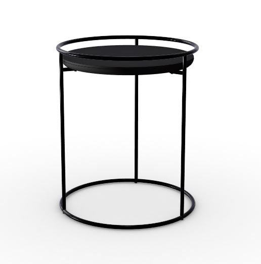 Calligaris Atollo Lamp Table Black Wood