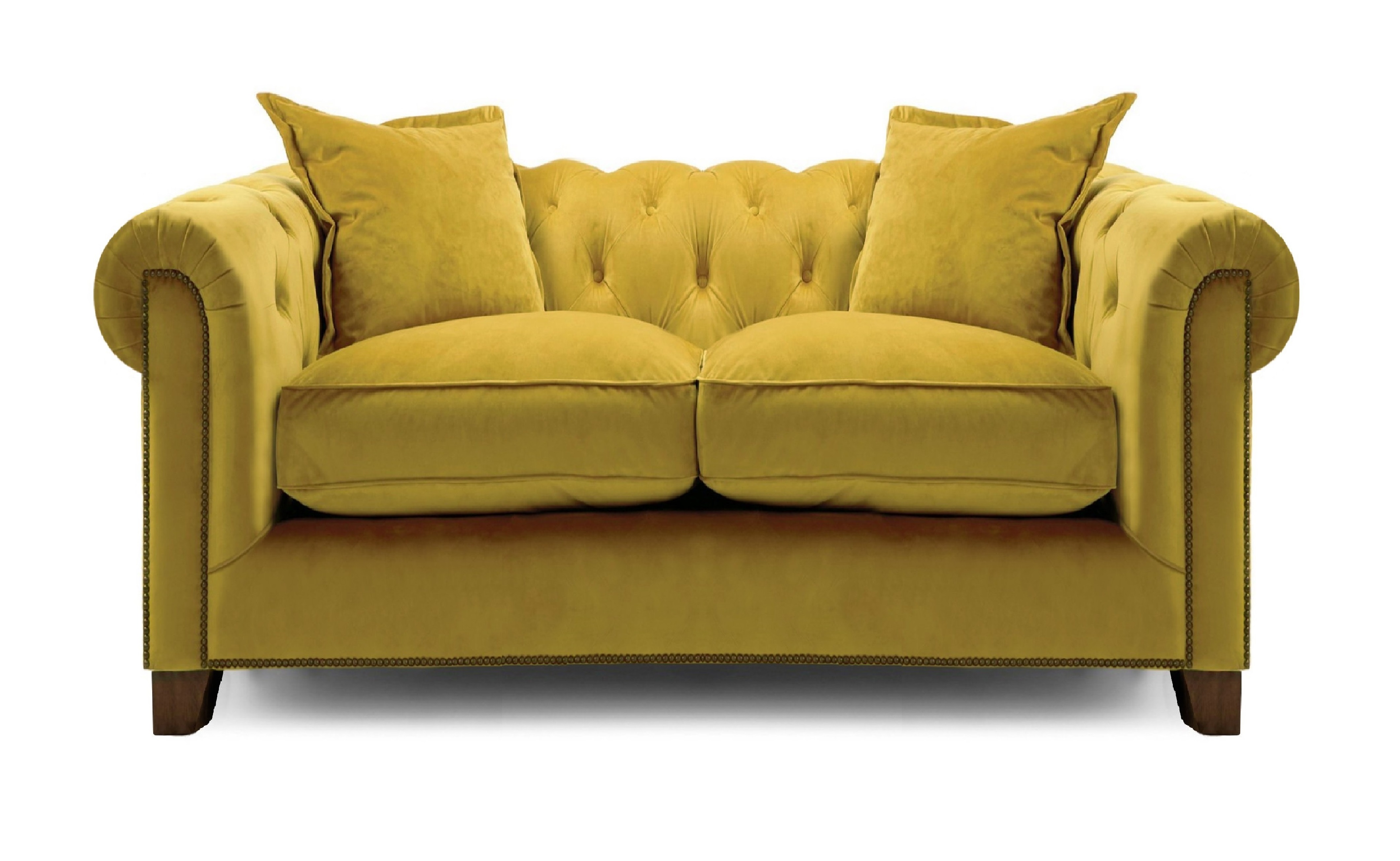 Kennedy 2 Seater Hermit Sofa - Mustard