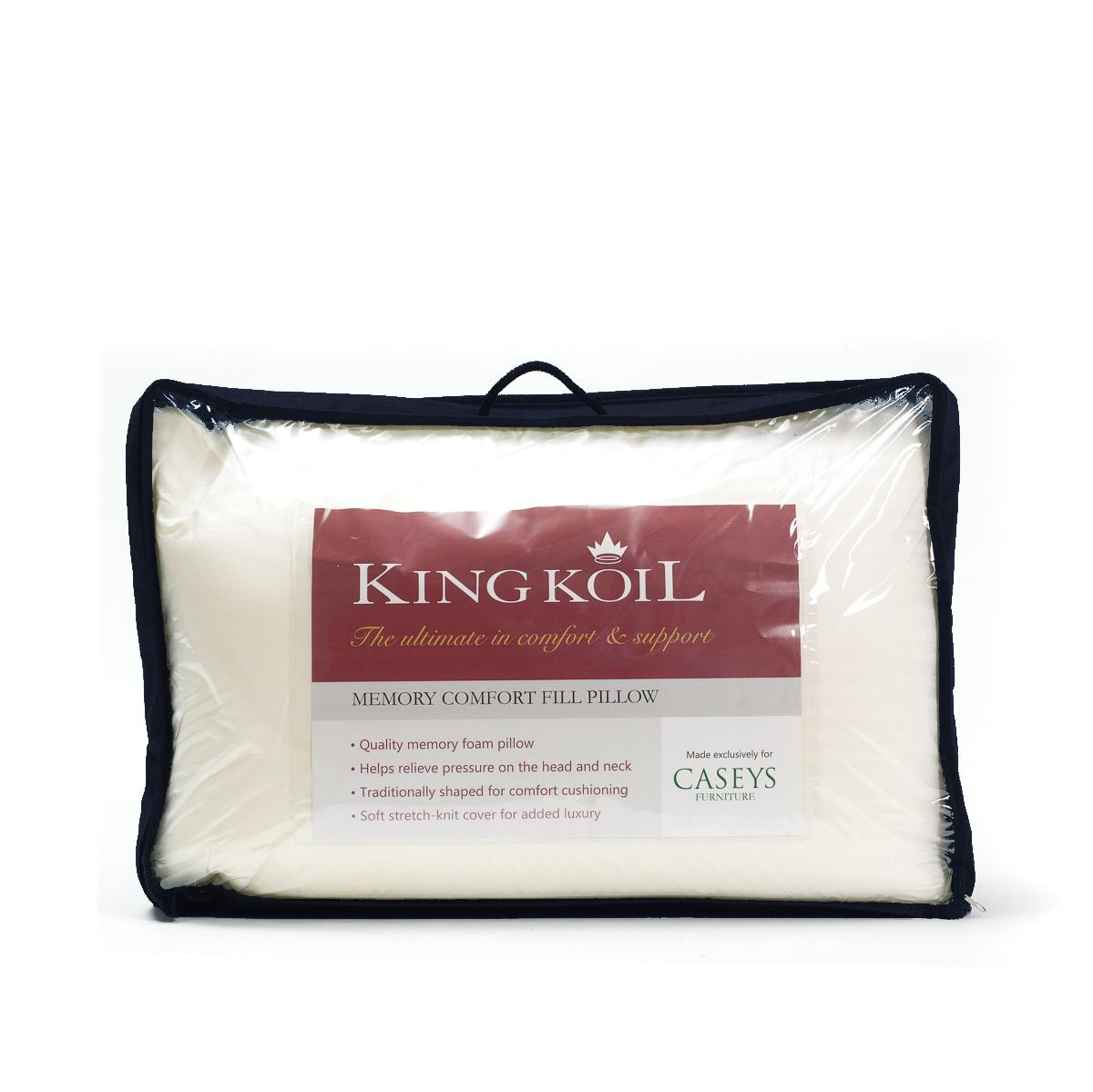 King Koil Caseys Memory Comfort Fill Pillow