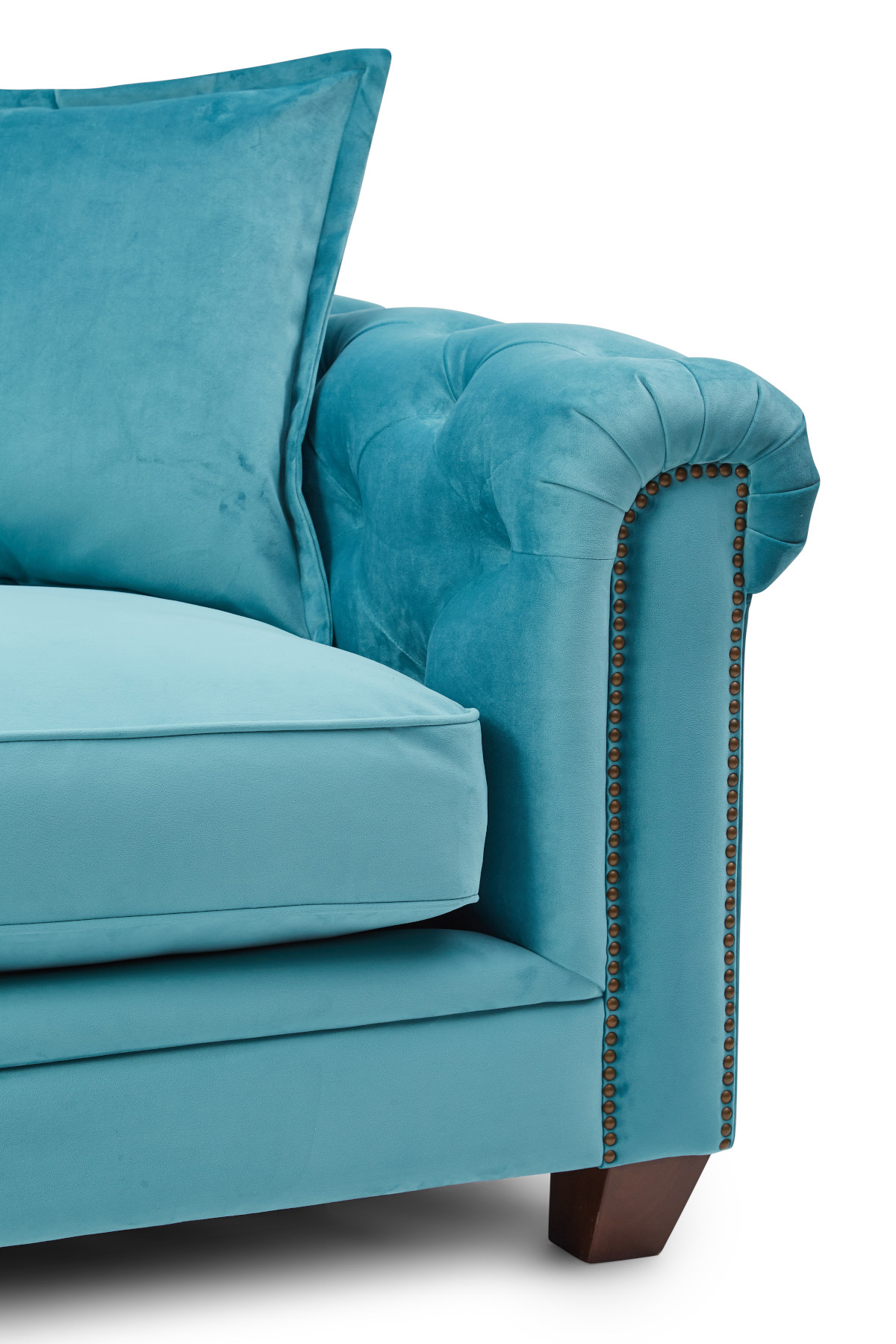 Kennedy 2 Seater Hermit Sofa - Teal