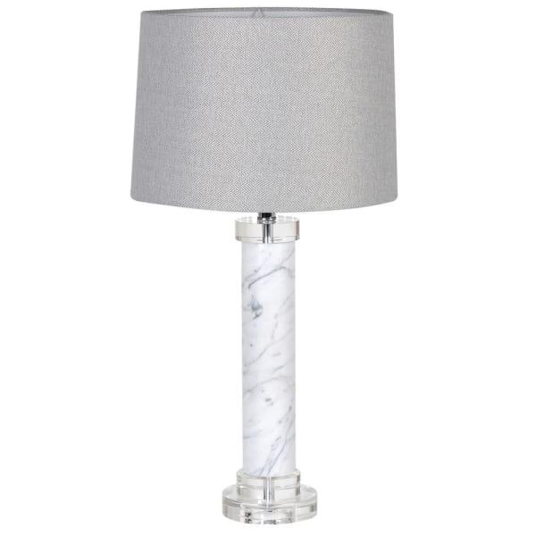 Marble Column Lamp Table