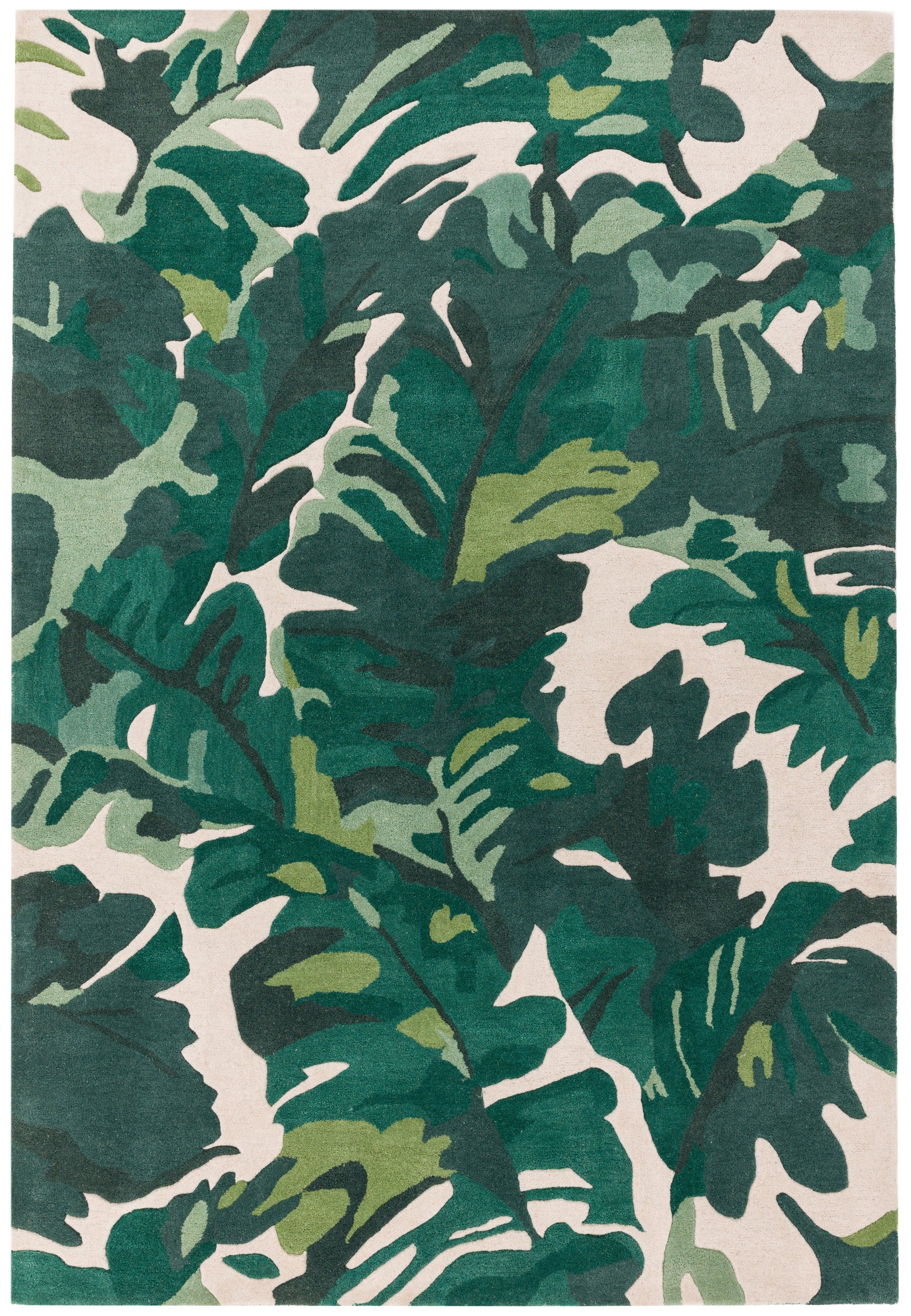 Matrix Rug Palm Green