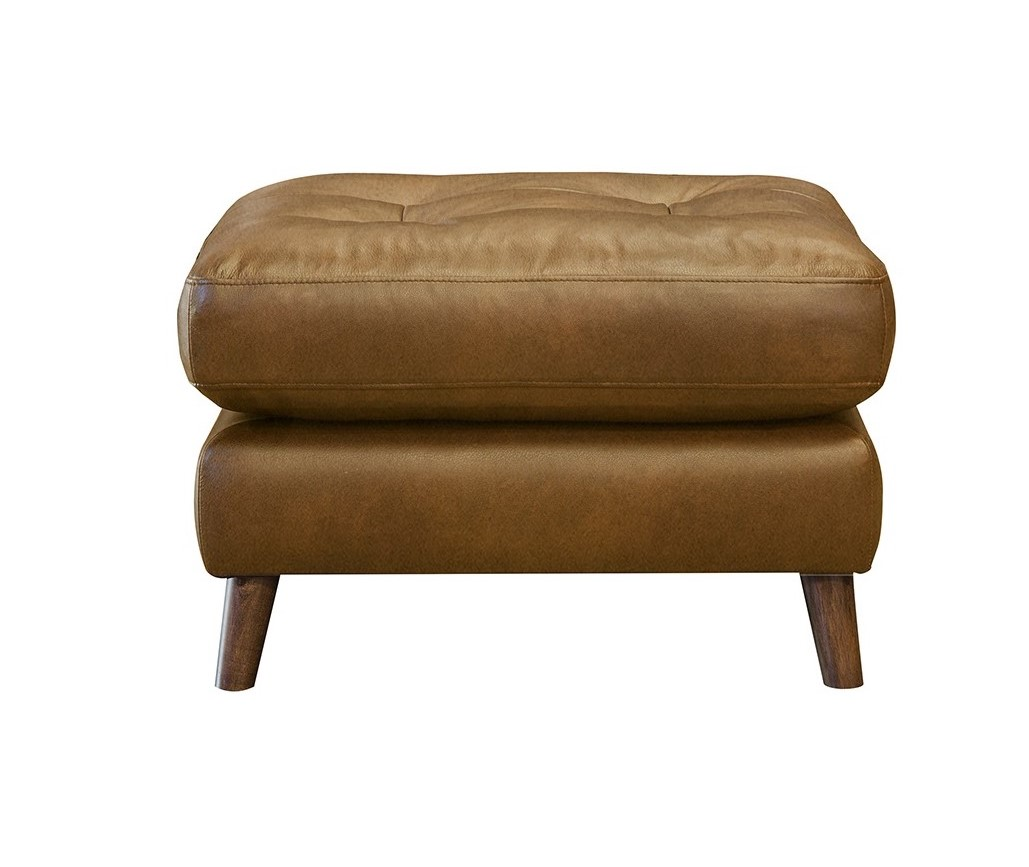 Newmarket Footstool - Leather