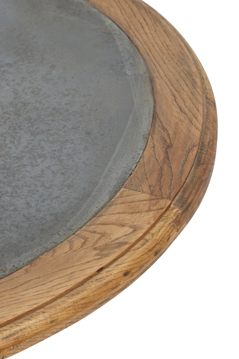 York Round Cafe Table with Zinc Top