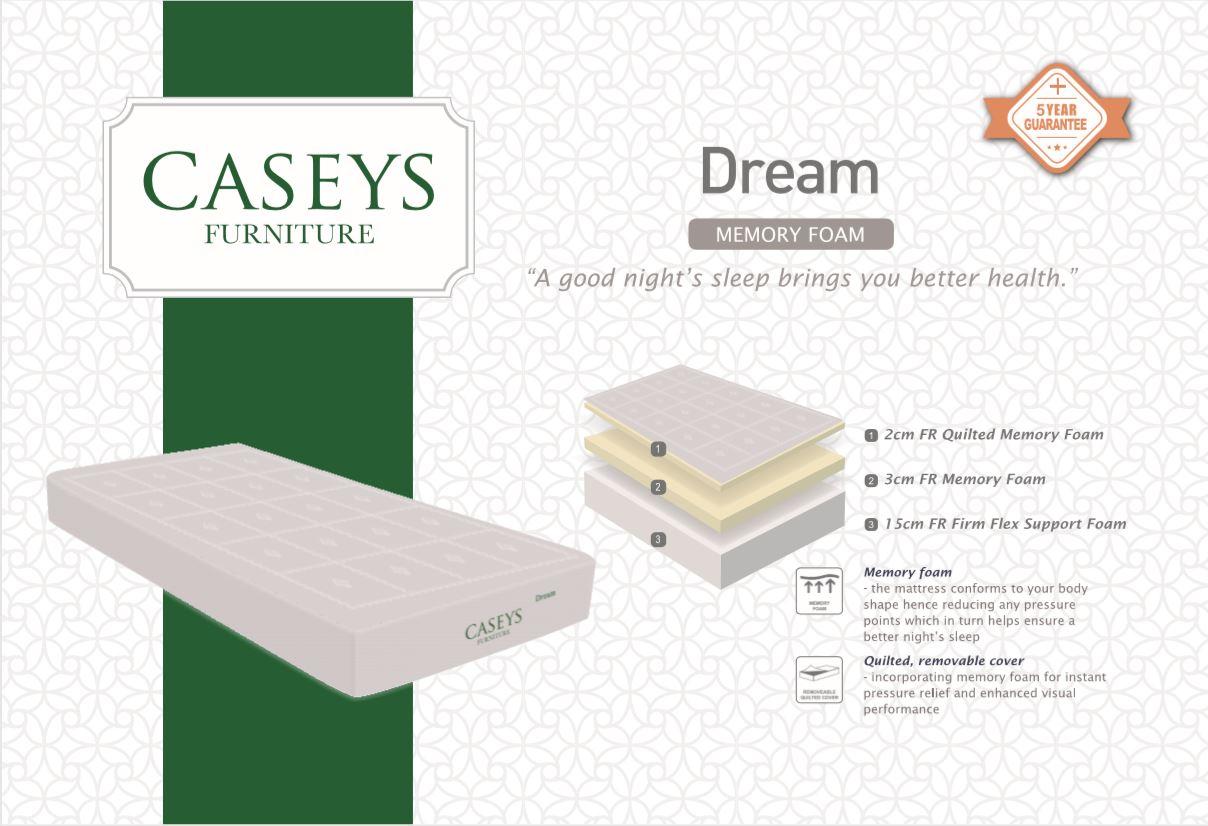 Caseys Dream Deluxe 3ft Mattress