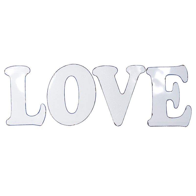 'LOVE' Letters Blue