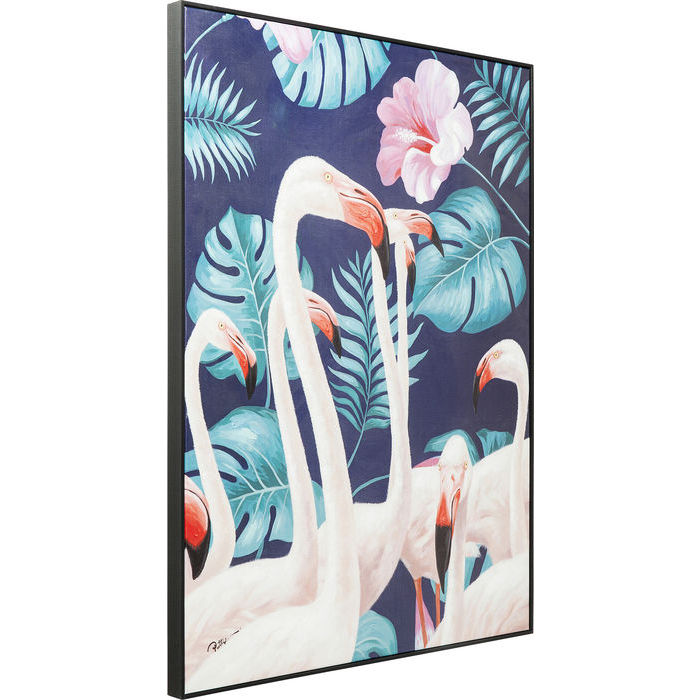 Floral Flamingo Picture