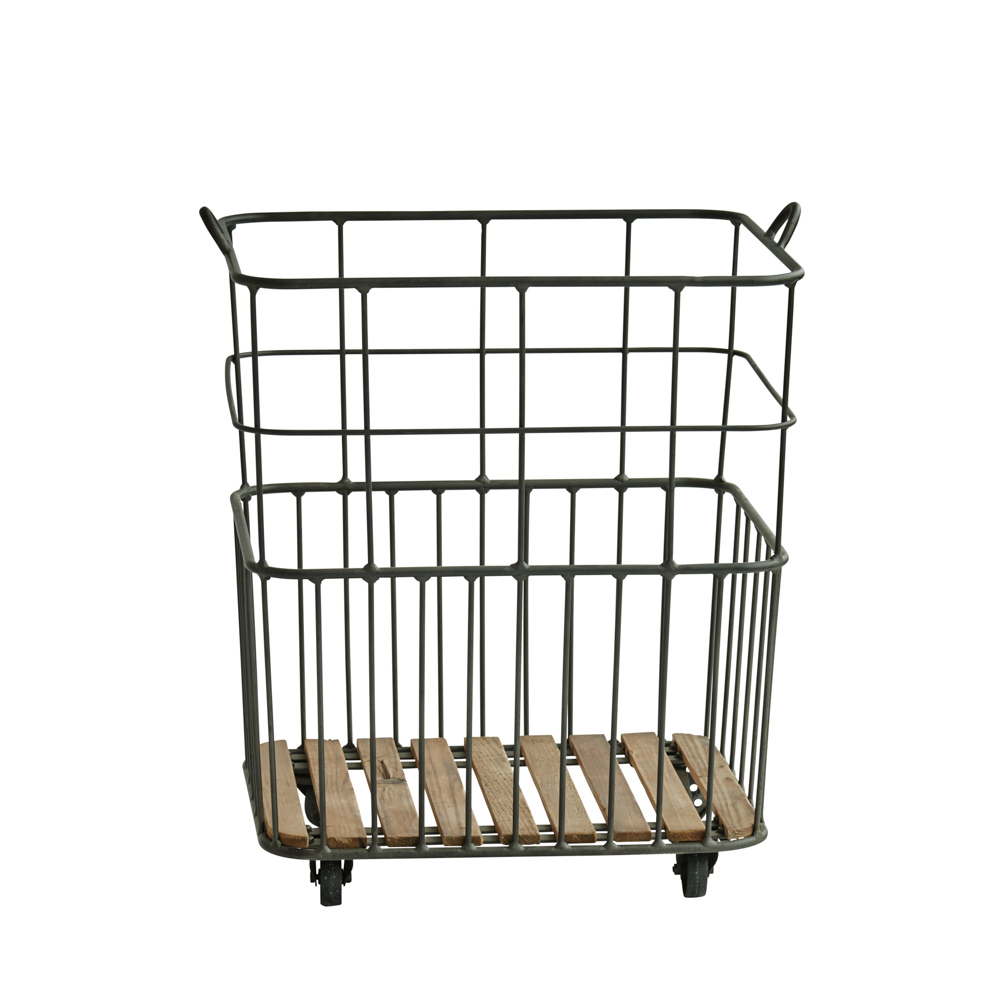 Vintage Metal Basket Large