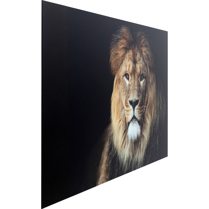 Lion Glass Picture