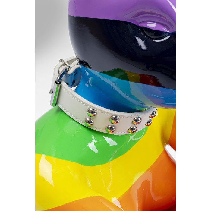 Deco Sitting Rabbit Rainbow