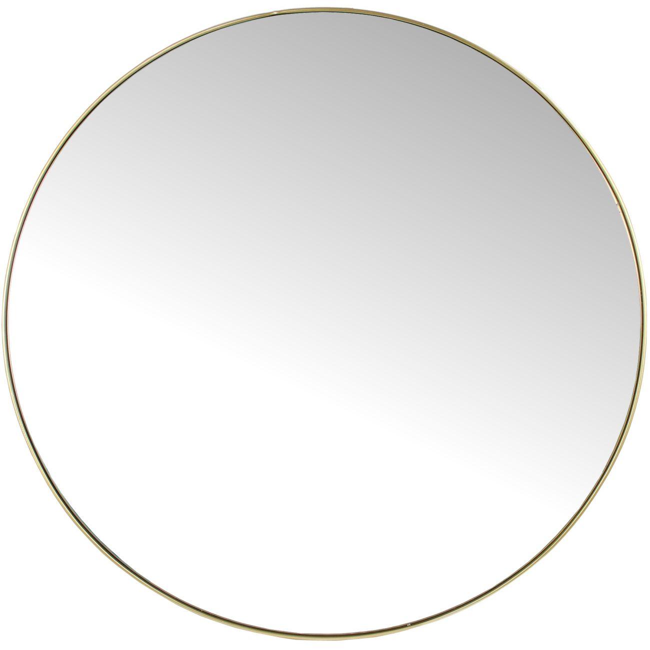 Slim Frame Round Mirror
