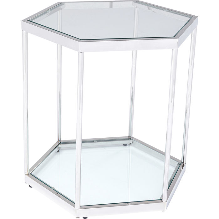 Silver Hexagonal Side Table