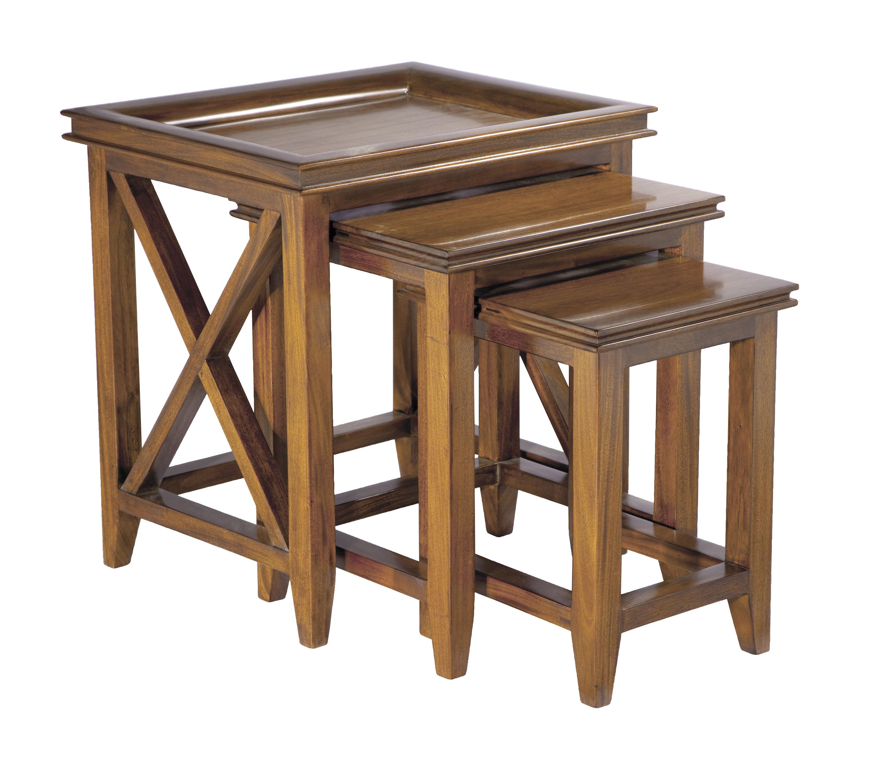 Mahogany Oxford Nest Of Tables