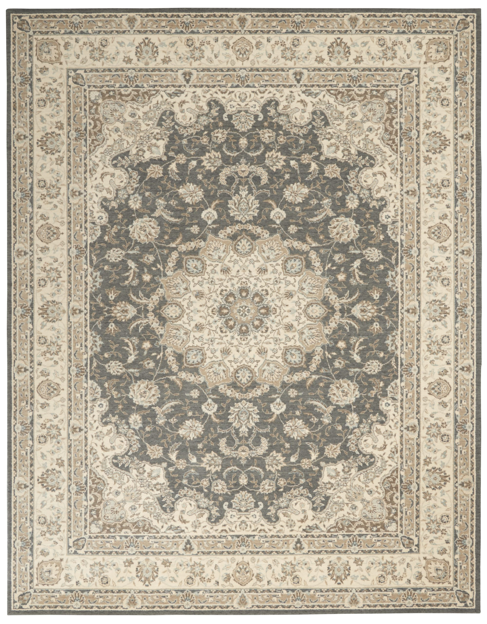 Living Treasures Rug LI15 Grey/Ivory