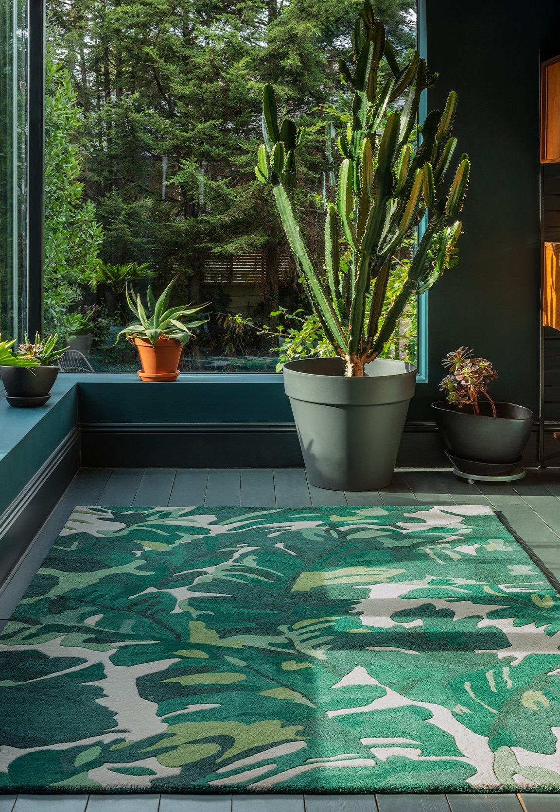 Matrix Rug Palm Green