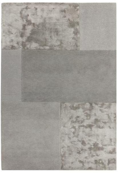Tate Tonal Textures Rug Silver