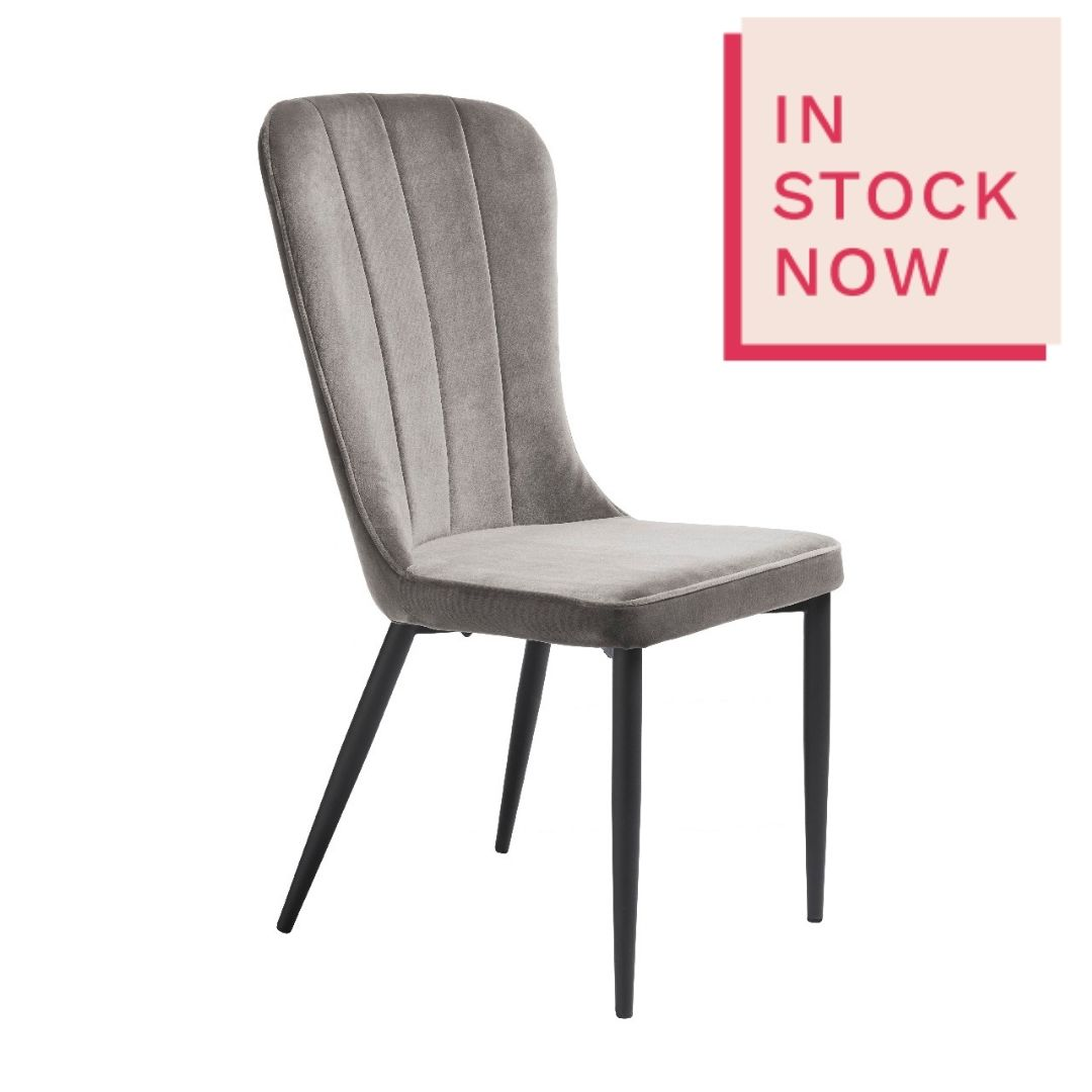 Effie Grey Velvet Dining Chair
