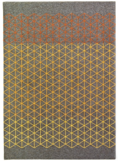 Calligaris Apotema Rug Grey/Ochre Yellow/Orange