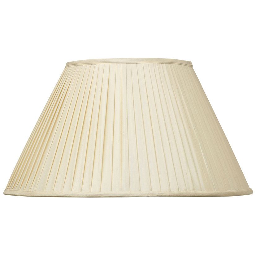 Almond Silk Knife Pleat Empire Shade
