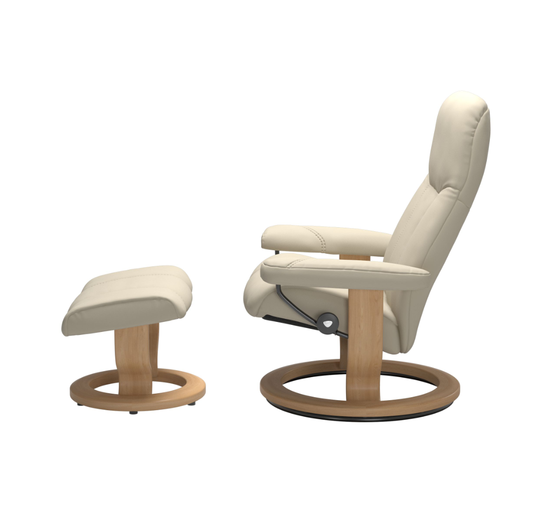 Stressless Consul Cream Medium Recliner Chair