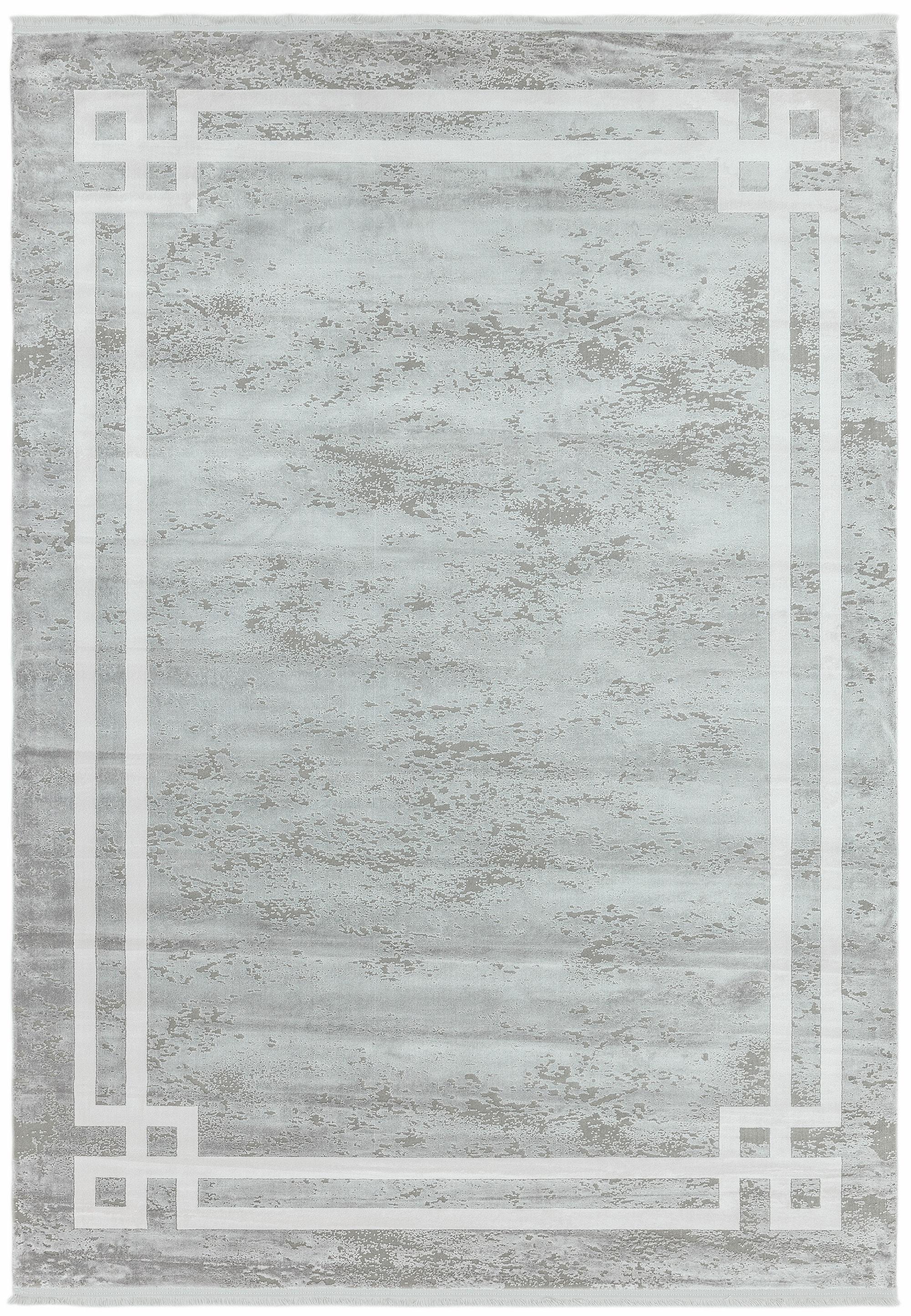 Olympia Rug OL01 Grey Pearl Border