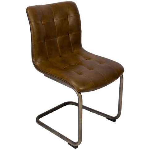 Button Back Vintage Frame Dining Chair