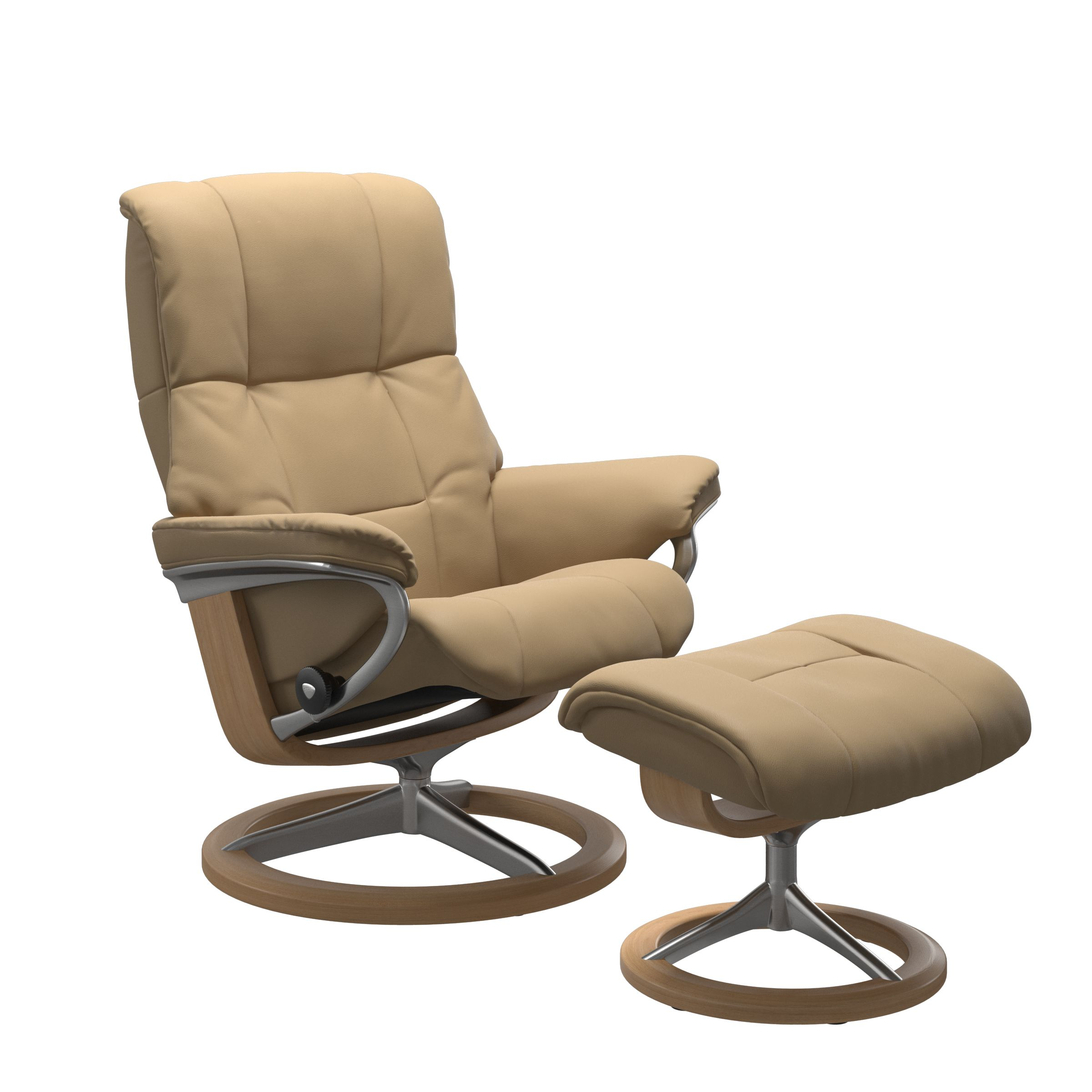 Stressless Mayfair Signature Sand Recliner & Stool