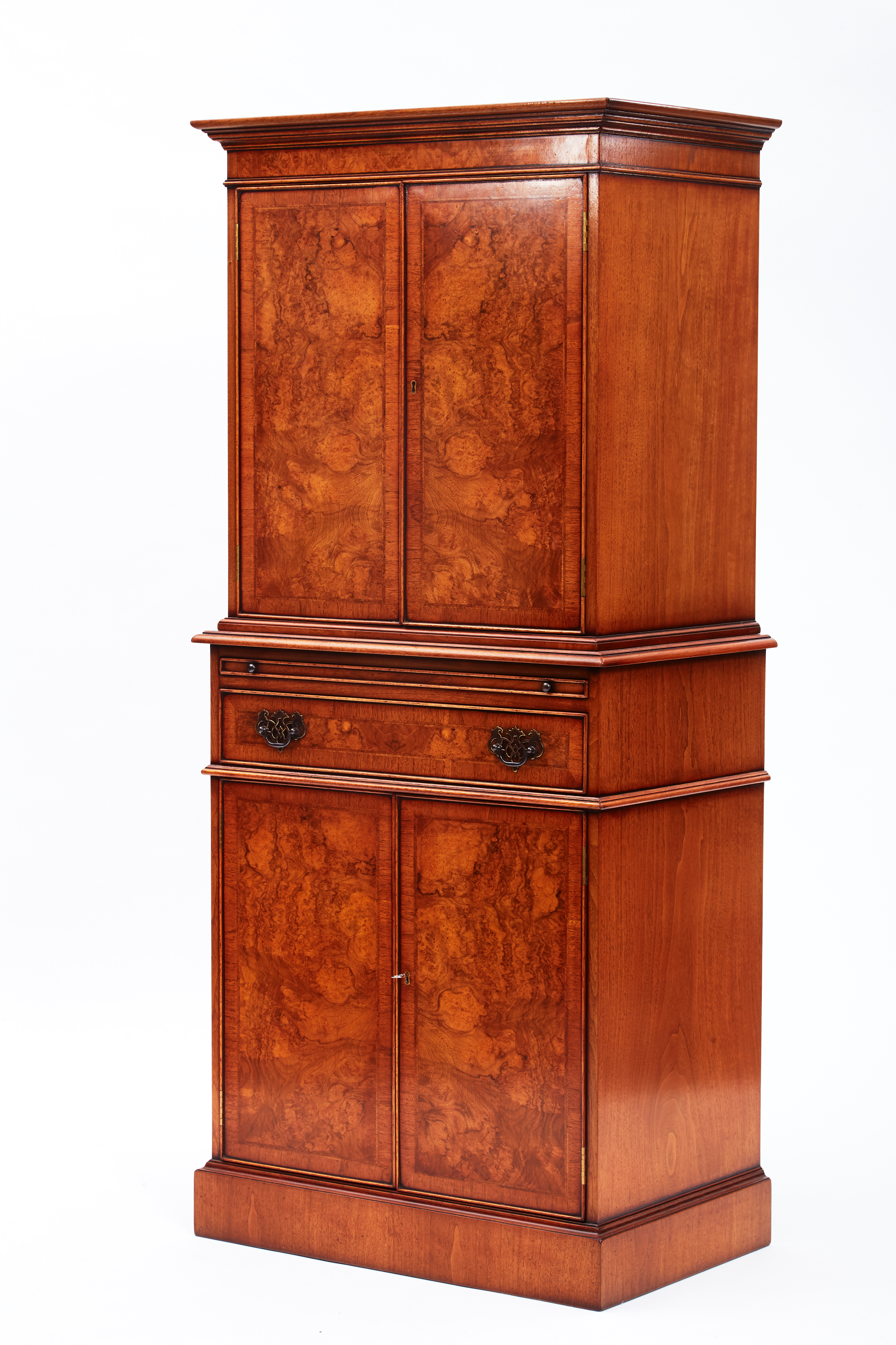Vintage Walnut Wine Cabinet
