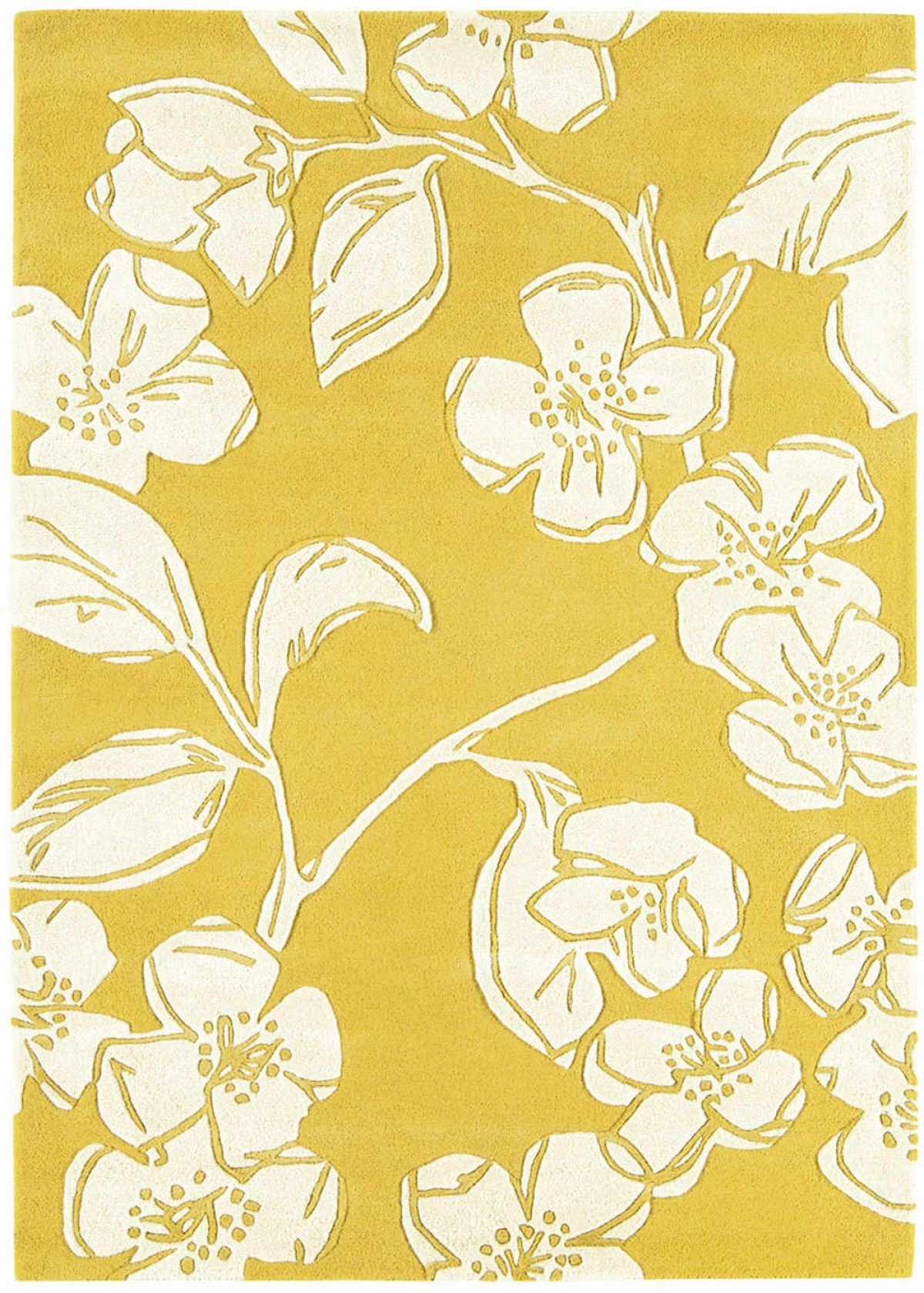 Matrix Rug Devore Yellow