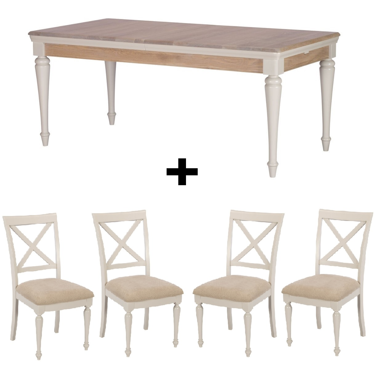 Carlisle Dining Set - Extending Table + 4 Chairs