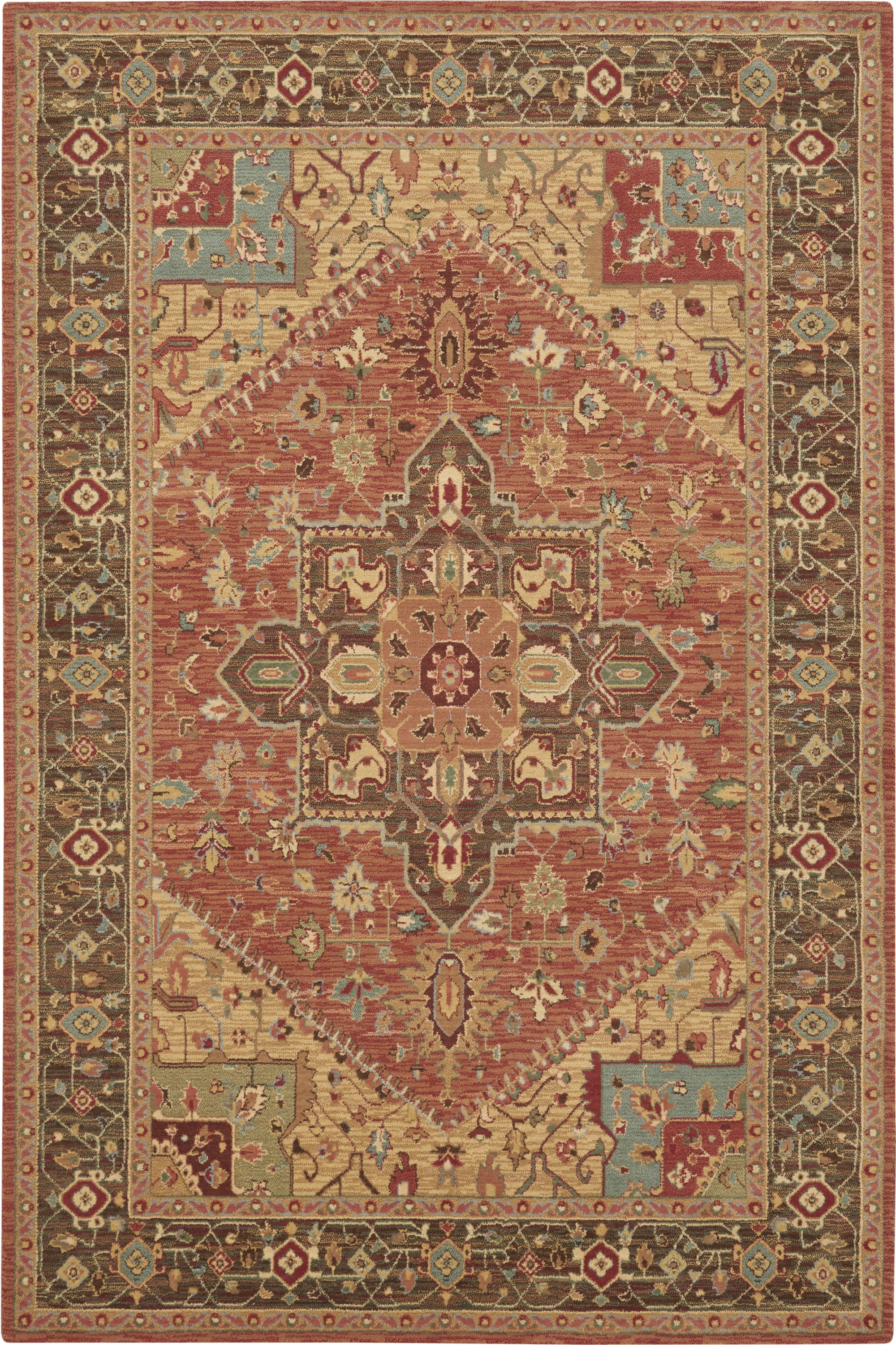 Living Treasures Rug LI01 Rust