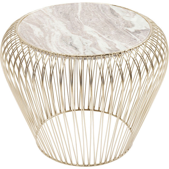 Beam Marble Side Table - Brass