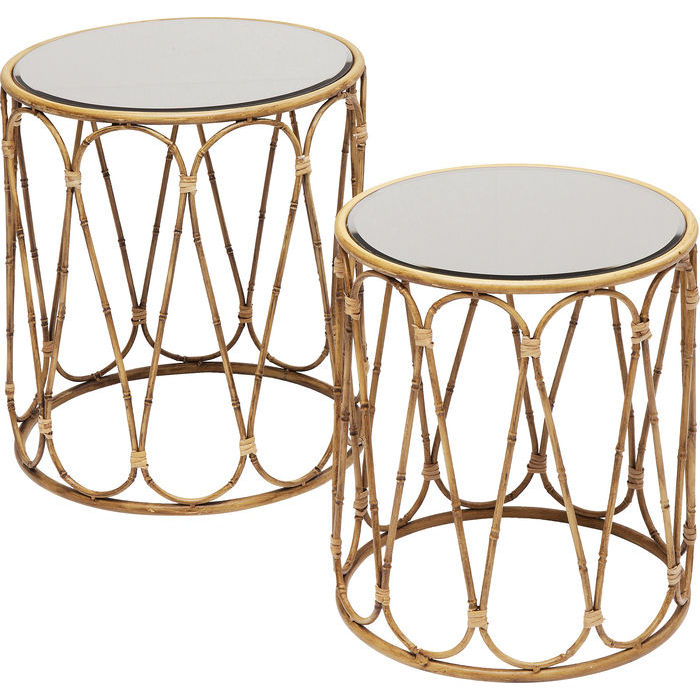 Loop Bamboo Side Tables