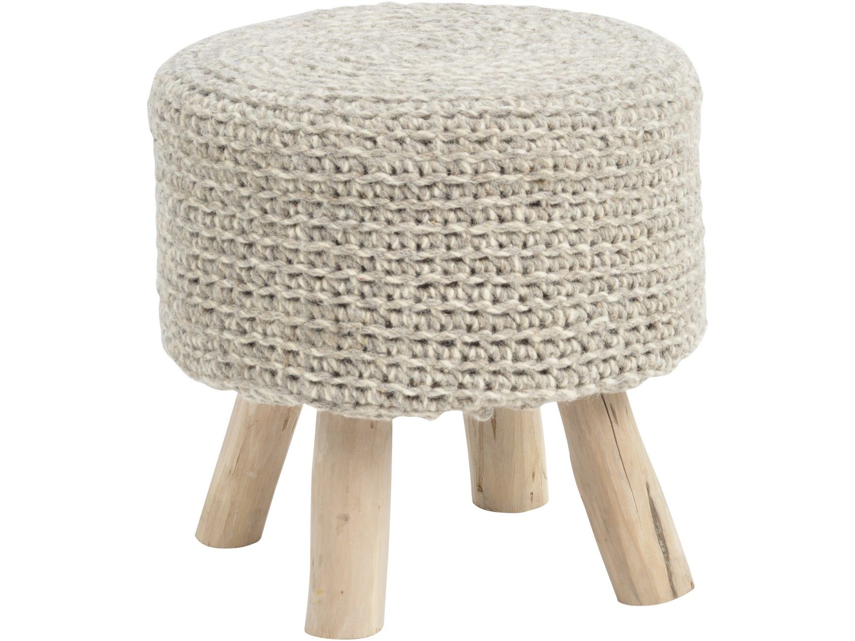 Nomad Knitted Stool Stone Grey