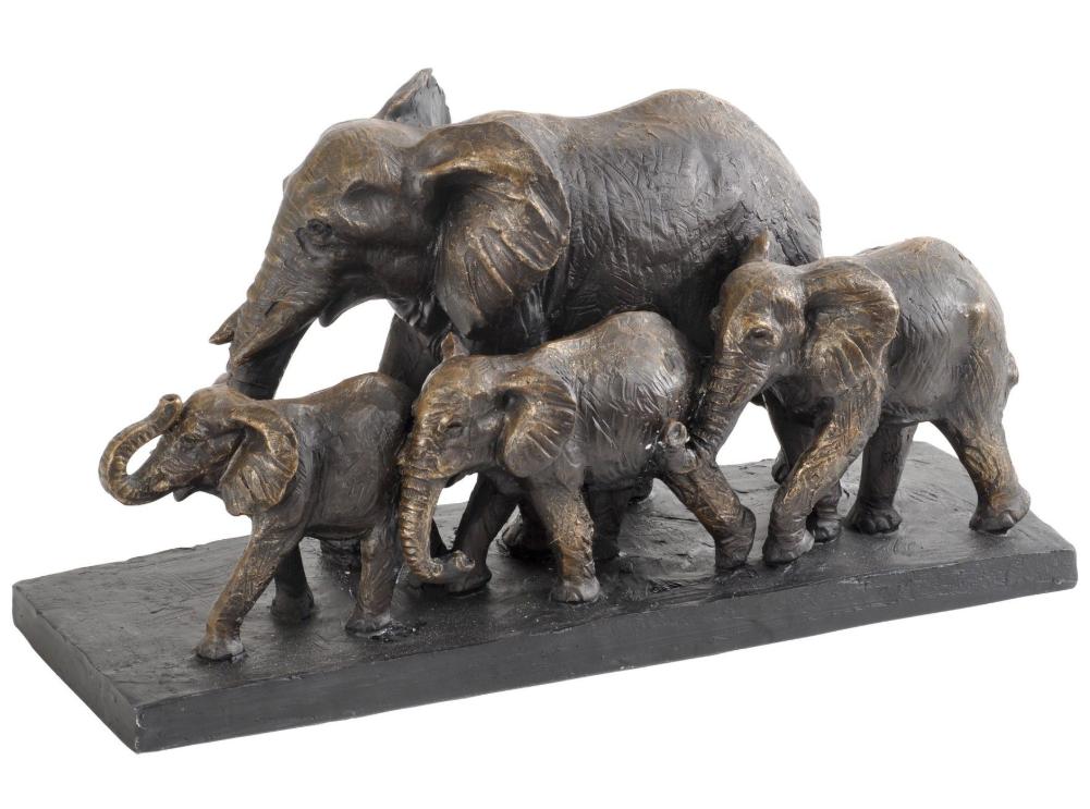 Elephants Sculpture