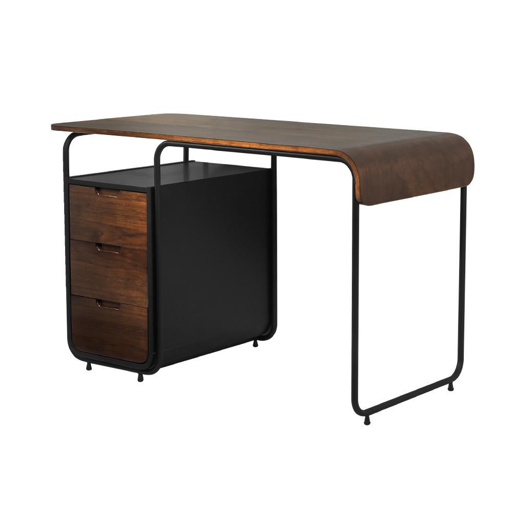 Harvard 3 Drawer Walnut Desk