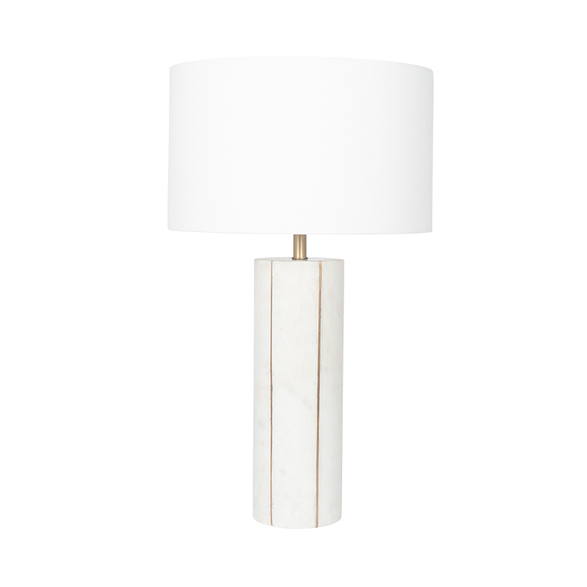 Marble And Gold Tall Table Lamp