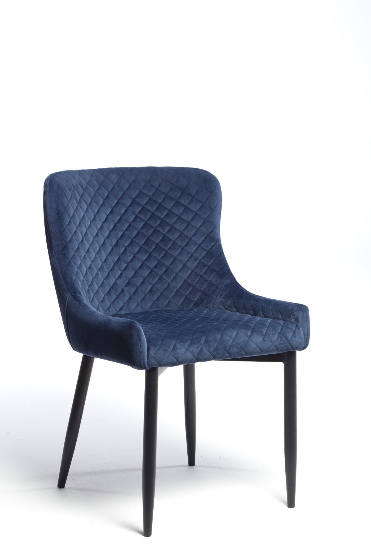 Maxwell Chair (Dark Blue Velvet)