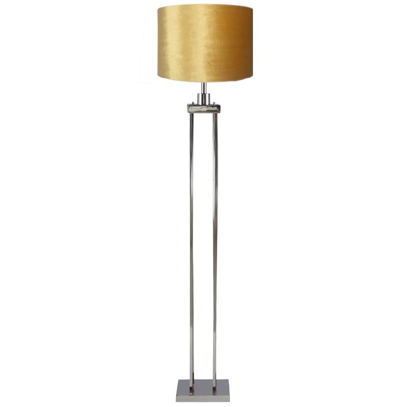 Nickel Column Floor Lamp