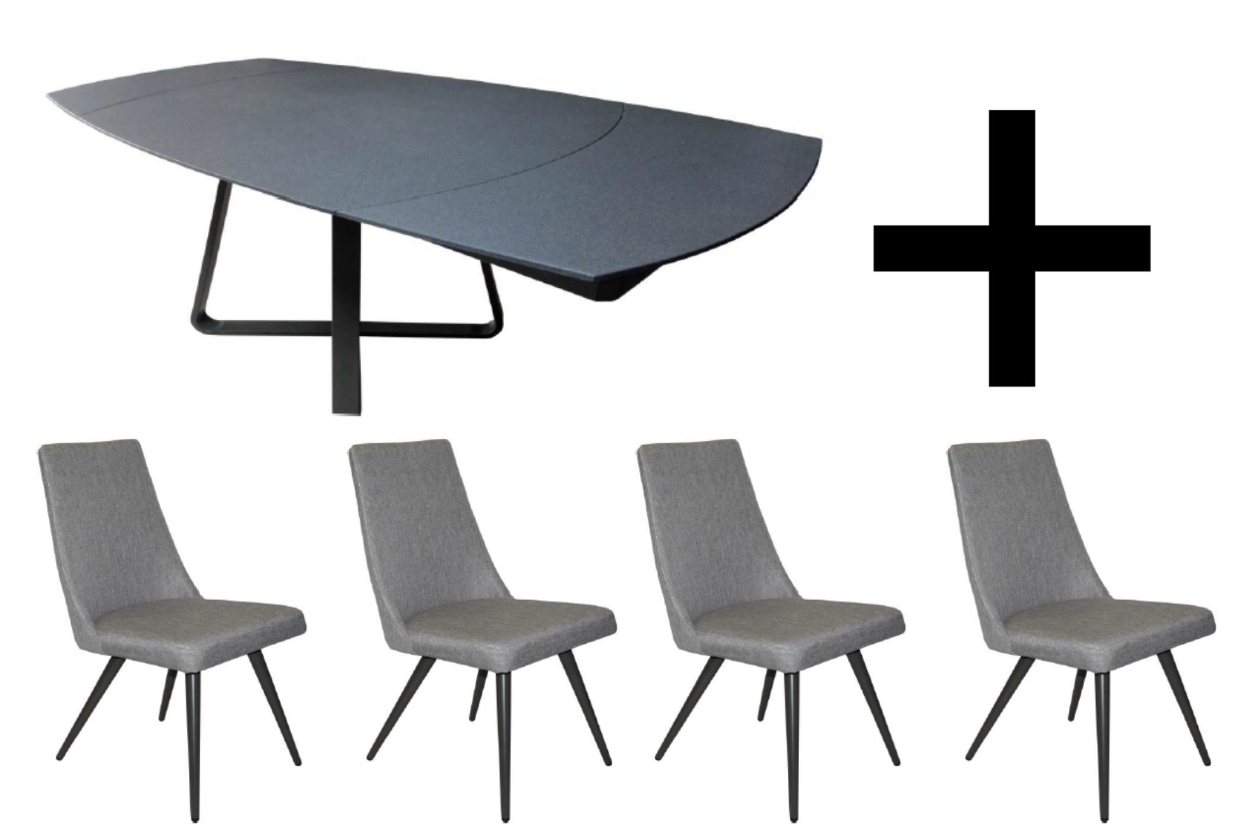 Reflex Dining Table and 4 Evolution Chairs - Bundle Deal