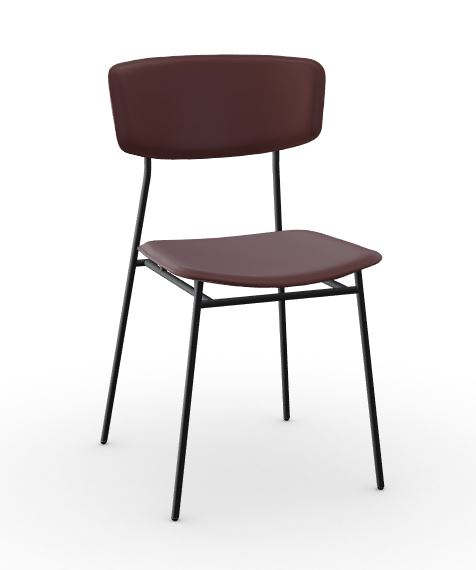 Calligaris Burgundy Fifties Leather Chair
